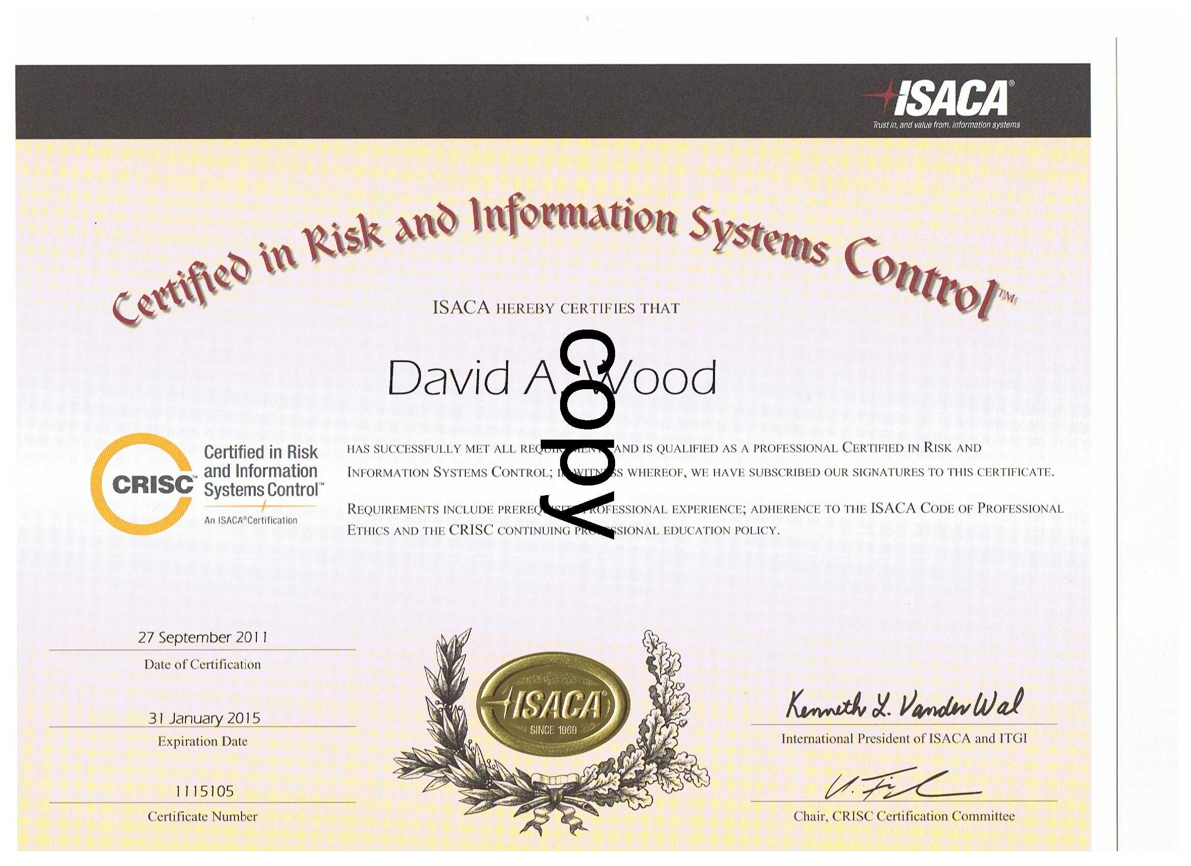 Merlin International Projects David A Wood Project Manager It